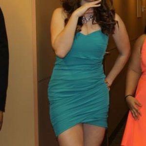 Teal Venus Dress